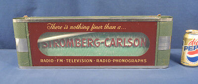 Vtg Antique Stromberg-Carlson Neon Advertising Sign Radio Television Phonographs