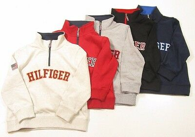 Tommy Hilfiger Boys Long Sleeve 1/2 Half Zip Boys Pullover Zip Neck Shirt