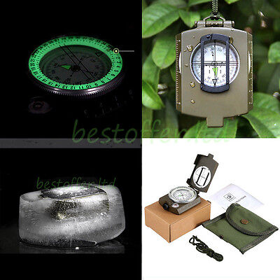 Professional Military Army Metal Sighting Compass Camping Hiking