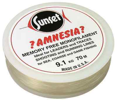 Sunset NEW Amnesia Memory Free Trace/Leader/Mono/Monofilament Fishing Line
