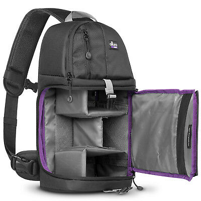 Camera Sling Backpack Bag for Canon Nikon Sony DSLR by Altura Photo®