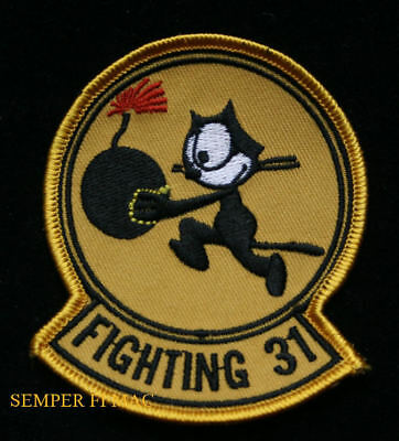 Vf-31 Tomcatters Hat Patch Us Navy Veteran Felix Cat F14 F18 F4B Vf6 Squadron