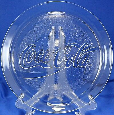Collectible Indiana Glass Coca Cola Company Coke platter 3909 plate 1990 vintage