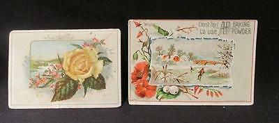 Spragues Warner & Griswold Baking Powder/Coffee  & A&P Victorian Trade Cards