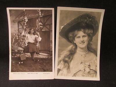 """Miss Zena Dare & Miss Phyllis Dare """"Dare Sisters""""  Early 1900s Actress Postcards"""