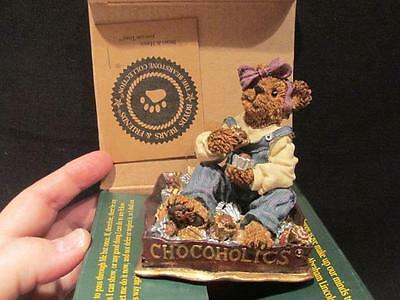 Fannie Sweetcheeks Never Enough 2000  Boyds Bearstone #227746 Box COA #9E/893