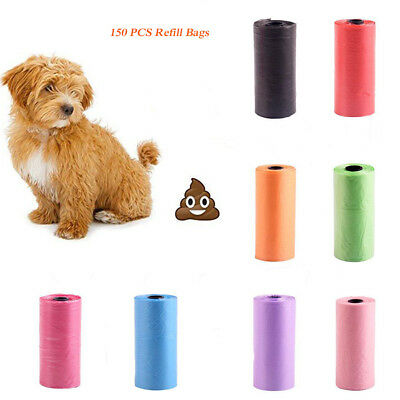 10 Rolls/150 bags Biodegradable Dog Pet Waste Poop Bags Garbage Bags Top T