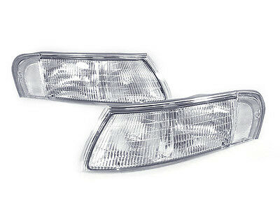 DEPO NEW Pair Chrome / Clear Front Corner Lights For 92 93 94 95 Ford Taurus SHO