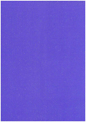 10 SHEETS VIOLET PURPLE A4 STARDUST SPARKLING GLITTER CARD 285gsm THICK CRAFT