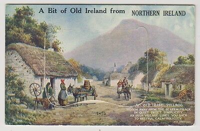 Ireland postcard - A Bit of Old Ireland from Northern Ireland - Novelty Pull Out