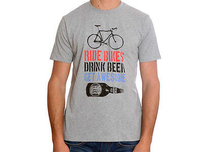 Apres Velo Get Awesome Mens T Shirt - Grey Marle