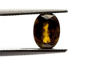 GemsVillage 2,21 Ct. Characteristic color on this rare & genuine TITANITE - BRZ.