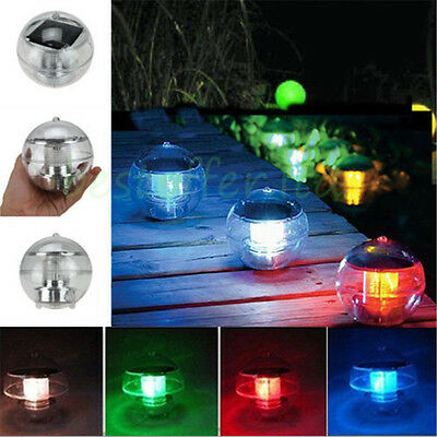 Floating Underwater Changing Color Solar LED Swimming Pool Pond Party Light Lamp