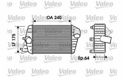 VALEO Intercooler Pour FIAT STILO 817879