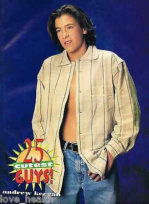 """ANDREW KEEGAN - almost SHIRTLESS - 11"""" x 8"""" MAGAZINE POSTER PINUP TEEN BOY ACTOR"""