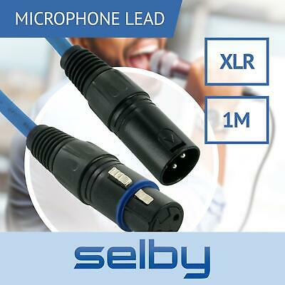 1m Blue 3-Pin XLR Balanced Audio Cable Microphone Lead Mic Cord Cannon Plug