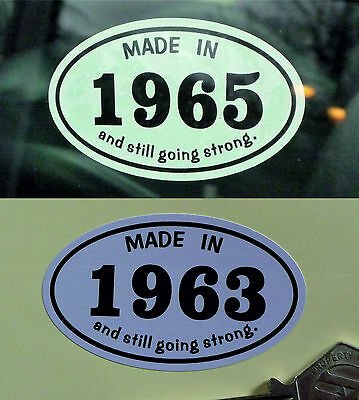 MADE IN 1960s *1963* Classic Car Vintage Bike Helmet STICKER All Years Available