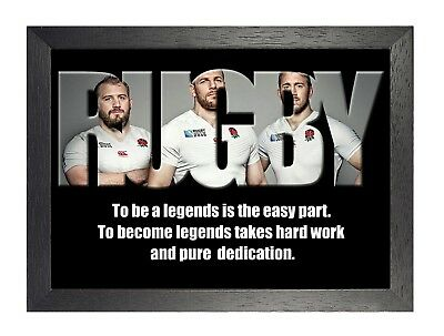 England Rugby 7 Photo Inspirational Motivation Quote Picture Sports Poster