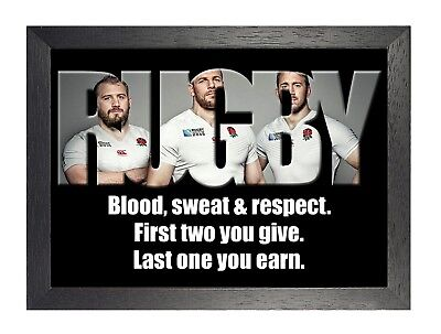 England Rugby 16 Photo Inspirational Motivation Quote Picture Sports Poster