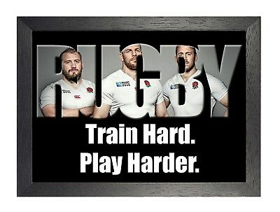 England Rugby 10 Photo Inspirational Motivation Quote Picture Sports Poster