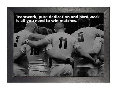 England Rugby 03 Photo Inspirational Motivation Quote Picture Sports Poster