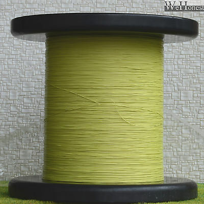 """1000m Yellow Stranded Ultra slim cable Dia. 0.28mm 0.011"""" Wires 7/0.05"""