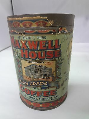 Vintage Maxwell House Coffee With Original Lid  Advertising Collectible G-83