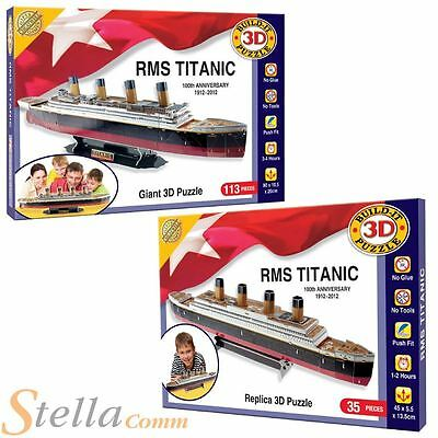 3D Titanic Puzzle Jigsaw Build Your Own Giant Model Toy Kit - 35 & 113 Piece