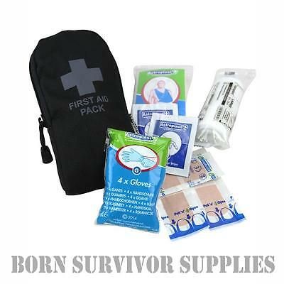 SMALL POCKET FIRST AID KIT POUCH - Basic Tactical Camping Survival Hiking Army