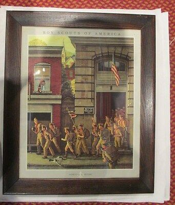 Framed Norman Rockwell Boy Scouts of America Print
