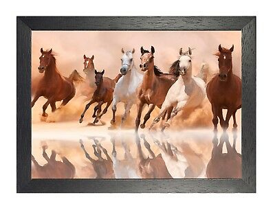 Horse 12 Animal Nuture Beautiful Picture Love Poster Brown  Photo Print