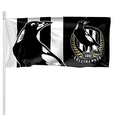 COLLINGWOOD MAGPIES AFL Pole Flag LARGE 1800x900mm Licensed (Pole not included)