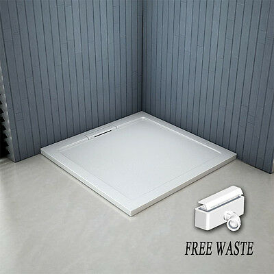 900x900x40mm Square Shower Enclosure Tray Free Hidden Waste NEXTDAY DELIVERY