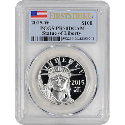 2015-W American Platinum Eagle Proof (1 oz) $100 - PCGS PR70 DCAM - First Strike