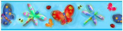 Roommates Jelly Bugs Wallpaper Border Butterfly Ladybird Bee Free P+P