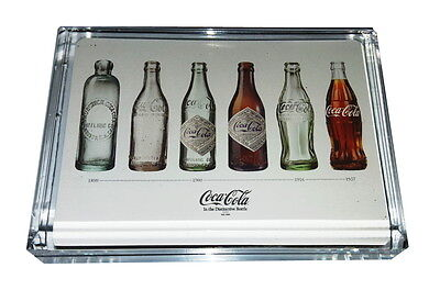 Coca-Cola Coke Bottle History Acrylic Executive Display Piece Desk Paperweight