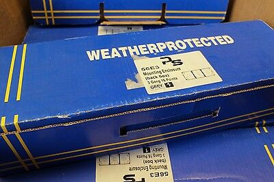 4 x PS Weather Proof Protected 56E3 Mounting Enlosure Back Box 3 Gang 16 Points