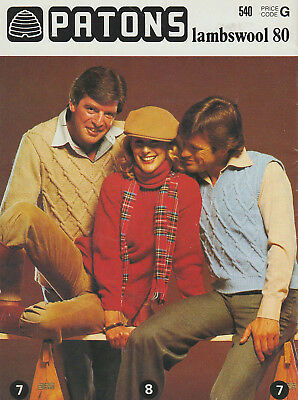 Lovely Vintage Family Knitting Patterns  Family, Mum, Dad and Kids ~ Patons 540