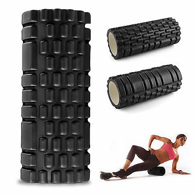 Yoga Foam Eva Roller Exercise Massage Trigger Point Gym Pilates Physio Black