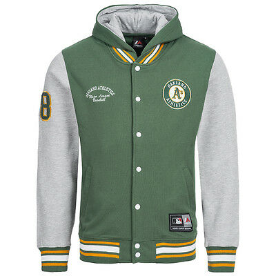 Oakland Athletics Majestic MLB Rena Fleece Letterman Baseball Jacke XS - 2XL neu