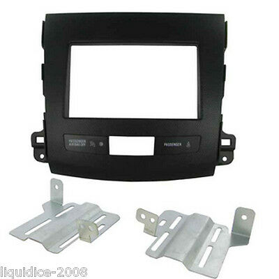 Ct23Pe06 Peugeot 4007 2007 Onwards Black Double Din Facia Adaptor Panel Adapter