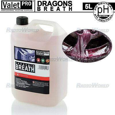 ValetPRO Dragons Breath NON-Acid Car Wheel Cleaner Iron X Fallout Remover 5L