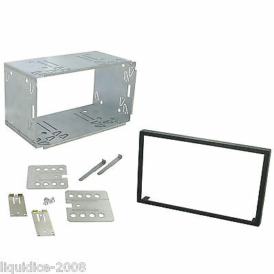 CLARION 100mm NX502E REPLACEMENT DOUBLE DIN  CAGE KIT SURROUND RADIO HEADUNIT