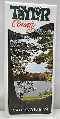 Vintage Taylor County Wisconsin Map Brochure Medford District Chequamegon Forest