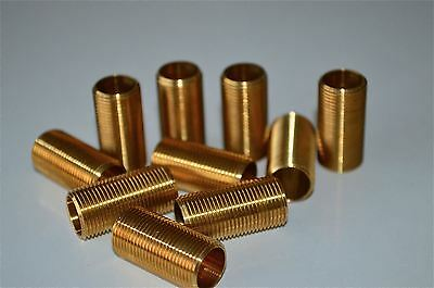 10 pieces 1 inch lengths of 1/2 inch hollow threaded bar lamp fitting thread MT3