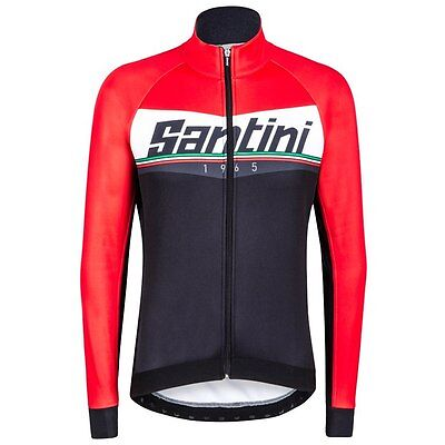 Rebel Cycling Windproof Jacket in Black//Orange Made in Italy by Santini