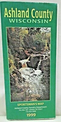 Ashland County Wisconsin Sportsman's Map 1999 Forestry Department