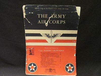 Army Air Corps Official Song by Capt Robert Crawford WWII Era Sheet Music