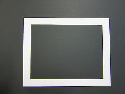 Picture Framing Mats 11x14 For 10x13 Photo White Rectangle Opening