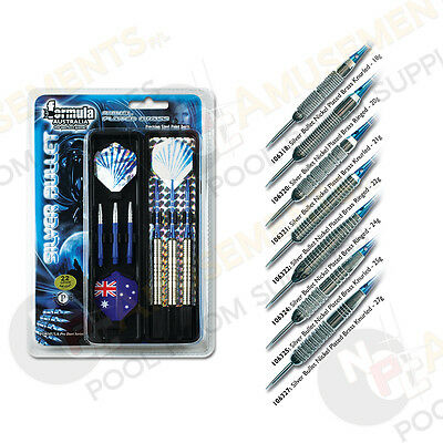 Silver Bullet Nickel Plated Dart Board Darts 18 20 21 22 24 25 27 Gram Options